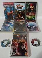PSP Game Lot - 9 Games - Ratchet Killzone Socom Dark Mirror Syphon Star Wars II