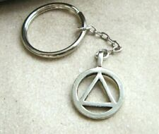 AA Key Chain, Recovery Gifts, Alcoholics Anonymous Key Ring Gift Bag NA GA CA OA