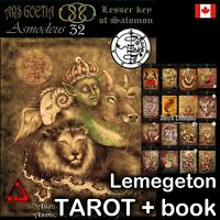 lemegeton demons seal tarot card cards deck dark grimoire vintage oracle rare v1