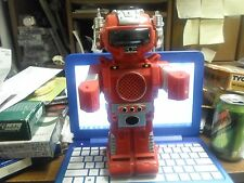 Vintage 1984 New Bright 2002 Smoking Robot  Battery Operated