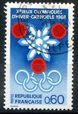 STAMP / TIMBRE FRANCE OBLITERE N° 1520 JEUX OLYMPIQUES D'HIVERS GRENOBLE