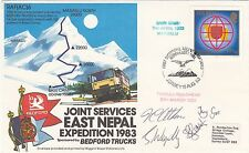 AC6 Joint Services East Nepal Signed 4 Team Members  Flown Gatwick - Hong Kong