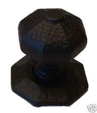 Large Rustic Centre Door Knob / Handle in Black Cast Iron (JAB6)