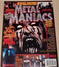 METAL MANIACS JANUARY 2004 MAGAZINE KING DIAMOND DIMMU BORGIR MORBID ANGEL