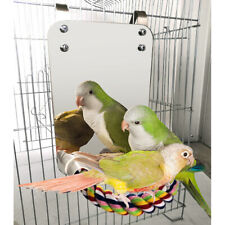 Bird Mirror with Perch Parrot Stand Toy for Parakeet Cockatiel Finch