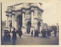Parigi Arco Di Triomphe Del Carosello Vintage Analogica 1900