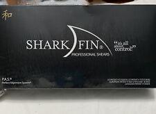 New Sharkfin 5.5 Inch Right Hand Standard Line Non-Swivel Blue Scissor Shears
