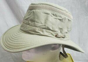 Tilley Le Chapeau Airflo Khaki Green Hat Size 7 3/4 Canada Outdoor Hiking LTM6IS
