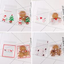 100Pcs Bonbon Cookie Sac Biscuit Sachet Auto-adhésif Emballage Fête Noël Cadeau
