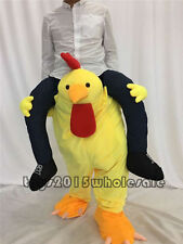 party Cock Mascot Costume Ride On Animal suit Halloween Adult Dress Thanksgiving