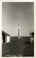 St. Croix Quebec Rear Range Lighthouse Real Photo Postcard