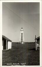 St. Croix Quebec Rear Range Lighthouse Real Photo Postcard