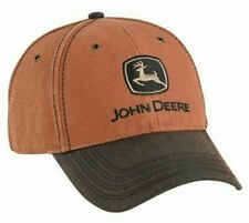 JOHN DEERE *BROWN CANVAS* CAP HAT *BRAND NEW*