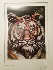 Rare BENGAL TIGER Art Print by RONNIE WOOD Rolling Stones facsimilie signature