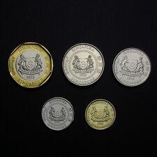 Singapore Set 5 Coins, 5 10 20 50 Cents 1 Dollar, 2013-2016, UNC