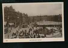 Nottinghamshire Notts NOTTINGHAM Market Trams pre1919 RP PPC
