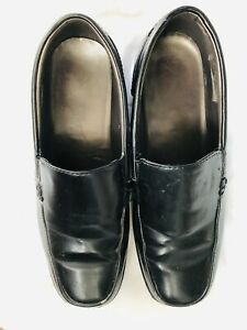 Comfort Black faux leather Loafers pull on shoes Size UK 6/eu39 unworn.