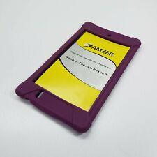 AMZER Silicone Skin Jelly Case Cover For Google Nexus 7 PURPLE (LOOK DESC.) D220