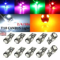 2/10x T10 501 194 168 W5W 5 SMD ERROR FREE CANBUS LED Car Side Light Bulb Lamp