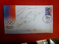 FINISH AQUATIC TEAM  HAND SIGNED SYDNEY  OLYMPICS COVER OLYMPIC HANNA SEPPALA