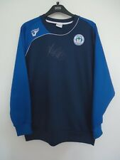 WIGAN ATHLETIC VINTAGE OFFICIAL FOOTBALL TRAINING TOP  VANDANEL  SIZE L SIGNED