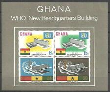 Ghana - Einweihung WHO in Genf Block 20 postfrisch 1966  Mi.Nr. 257-260