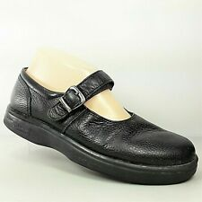 Dr Comfort Merry Jane Womens Black Leather Diabetic Mary Jane Shoes Size 7W Wide