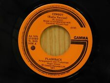 Flashback 45 Cowboy Radio / Long Version ~ Gamma ~ VG to VG+ (Canadian Press)