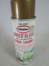 Vintage Glidden Spred Gloss empty metal aerosol spray paint can 1045 Gold