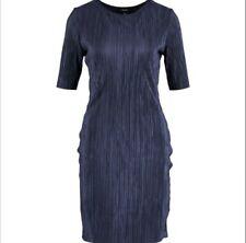 FOREVER Navy Plisse Mini Dress Women Size S New