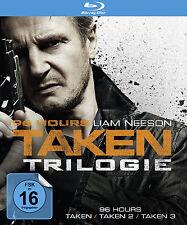 3 Blu-rays *  96 HOURS - TAKEN TRILOGIE | LIAM NEESON # NEU OVP §