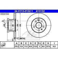 ORIGINAL ATE Bremsscheiben Satz vorne VW Transporter T2 Bj.68-79