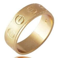 Classic Jewelry Womens Men's Yellow Gold Filled Band Ring Size 7 Fashion