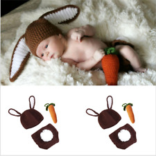 Rabbit Bunny Newborn Baby Girl Boy Crochet Knit Costume Photo Photography Prop