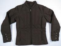 NWOT Eddie Bauer Goose Down Quilted Brown Full Zip Womens Puffer Coat Jacket M