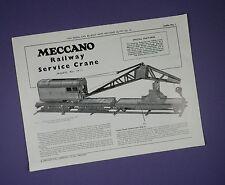 Meccano Leaflet No.1 - Railway Service Crane