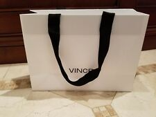 Brand New AUTHENTIC Vince White Gift Paper Shopping Bag 11X8