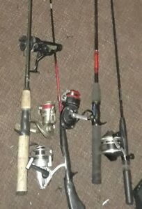 5 Fishing Reels And 4 Poles