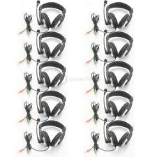 Lot 10pcs New SM-750 3.5mm games Headphone Headset/Microphone for PC Laptop