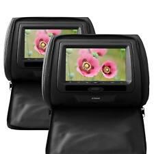 """Reposacabezas COCHE 7"""" SONY HD DVD SD USB Transmisor FM Juegos NEGRO"""