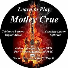Motley Crue Guitar TABS Lesson CD 77 Songs! + Backing Tracks + BONUS