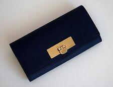 MICHAEL KORS Damen Geldbörse Portemonnaie CALLIE CARRYALL  Saffiano Leder navy