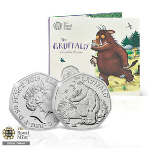 The Gruffalo and the mouse 50p New 2019 Brilliant Uncirculated Fifty Pence Coin
