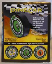 PineCar Wheel Flare Rub-On Decals Green Snake P4064 for Pinewood Derby Cars