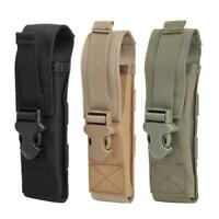#QZO Nylon Molle Flashlight Pouch Outdoor Knife Holder Camp Hunting Attach Bags
