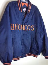 Vintage GAME DAY NFL Denver Broncos Winter Coat Jacket XXL Block Letter