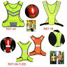 Reflective Safety Vest+LED Light High Visibility for Night Running Cycling❤