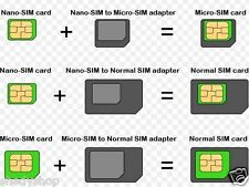 3 in 1 Nano to Micro, Nano to Regular, Micro to Regular SIM CARD Adapter