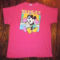 T Shirt Vintage 90s Disney Mickey Minnie Tango Dancing Single Stitch Sz One Size