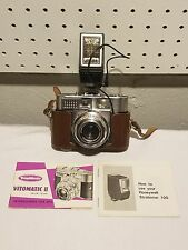 Vintage Voigtlander Vitomatic II 35mm Film Camera W/Honeywell Strobonar Flasher
